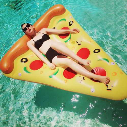 Pizze Pattern Triangle Swim Ring RBDE5A Yellow 6pcs