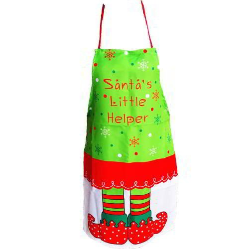 Snowflake Letter Color Matching Apron RC8EFB Red White 6pcs