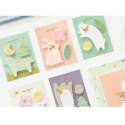 Animals Design Paper Stickers Tape RAECC7 6pcs