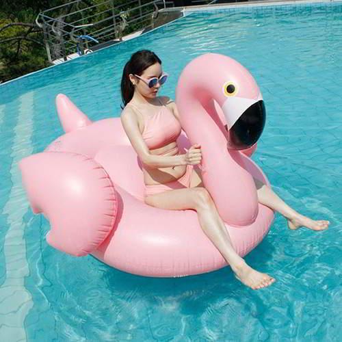 Swan Design Swim Ring 6pcs RBDEA7-Pink