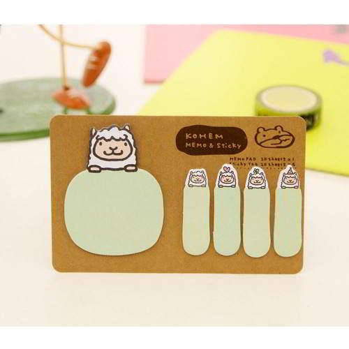 Cartoon Design Paper Stickers Tape Green RAECC5 6pcs