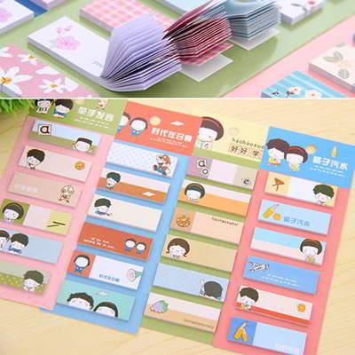 China Cartoon Paper Scratch Pad Sticky SB658F 6pcs