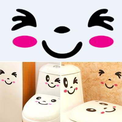Facial Expression Pattern Design Black Plum Red RA7586 6pcs