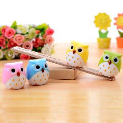 Rautan Pensil Owl Shape Design SB6B7F 6pcs