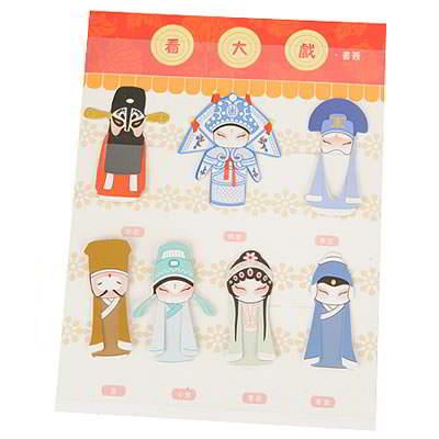 Chinese Beijing Opera Style Paper SB6558 6pcs