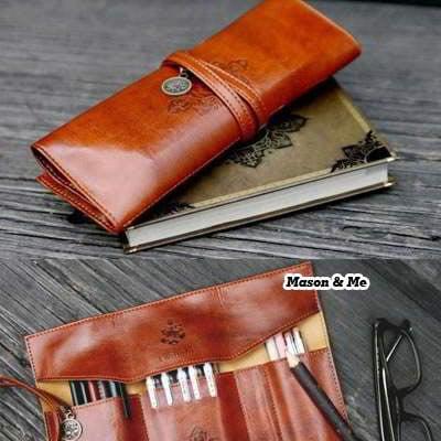 Korean Vintage Fashion Pencil Case Bags SBFFB7 6pcs