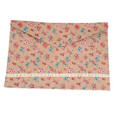Luxurious A5 Storage Flower Paper Bags Khaki SB656D 6pcs