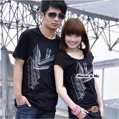 Couple T Shirts General SA5FF5 Black 6pcs