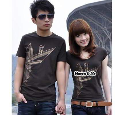 Couple T Shirts General SA5FFA Brown 6pcs