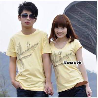 Couple T Shirts General SA5FF7 Yellow 6pcs