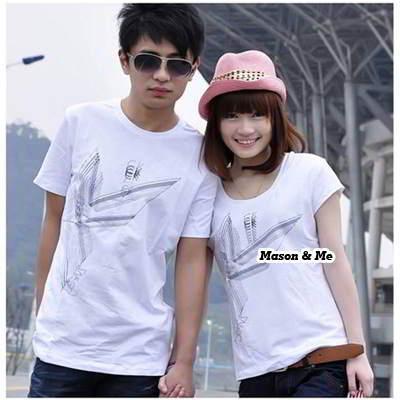 Couple T Shirts General SA5FF6 White 6pcs