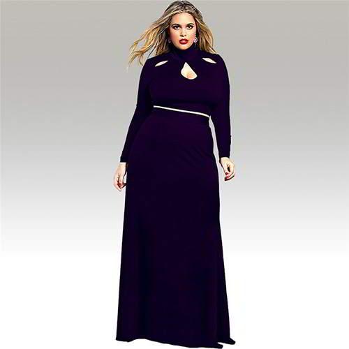 Neckline Long Sleeve Suits RBBBDC Purple 6pcs