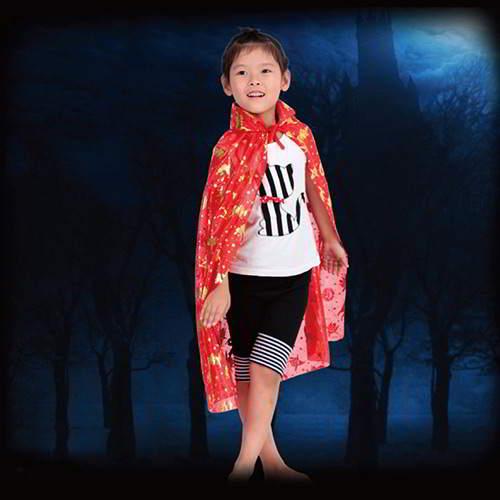 JRK Kids Halloween Pumpkin Evil Cloak RCFD5B Red Black 6pcs