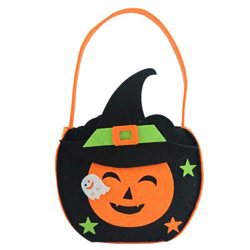 Halloween Pumpkin Shape Simple Candy Bag RCFD5D Black 6pcs