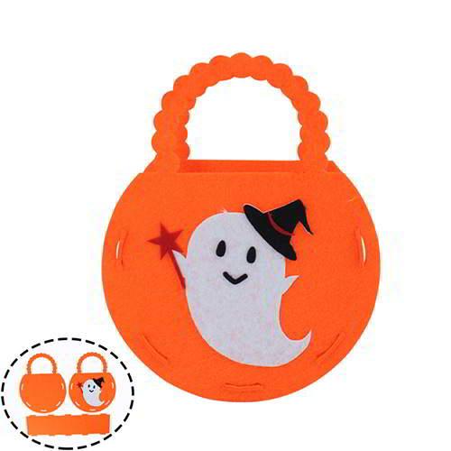 Halloween Cartton Evil Pattern Candy Bag RCFDA7 Orange 6pcs
