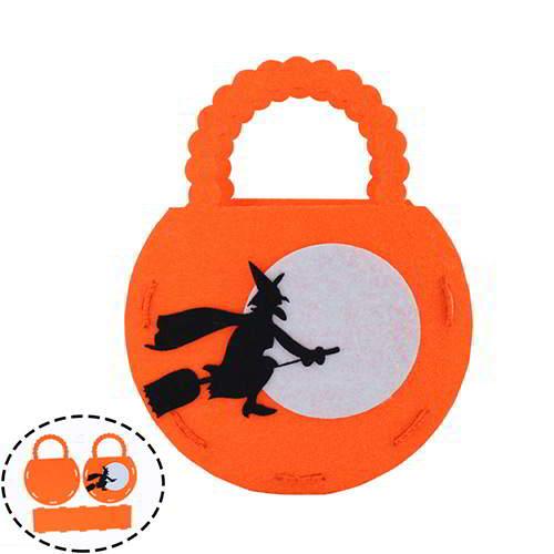 Halloween Moon Wizard Pattern Candy Bag RCFDA5 Orange 6pcs