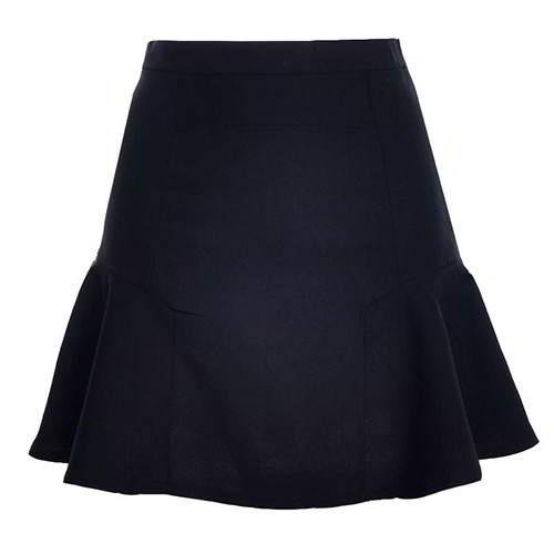 Patchwork Mini Chiffon Fishtail Skirt RCFEBB Black 6pcs