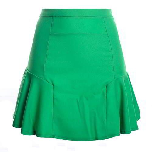 Patchwork Mini Chiffon Fishtail Skirt RCFEBC Green 6pcs