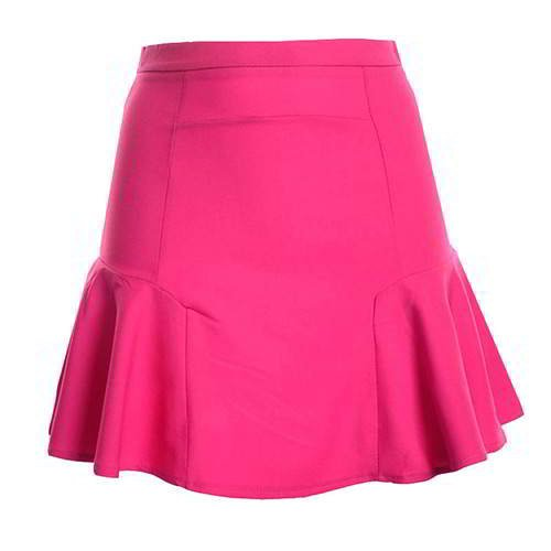 Patchwork Mini Chiffon Fishtail Skirt RCFEBD Plum Red 6pcs