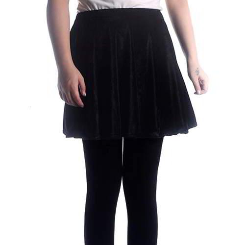 Simple Pleated Skirt RBEDDF Black 6pcs