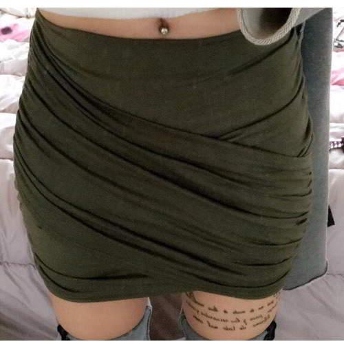 Fold Cross Skirt RBD56B Dark Green 6pcs