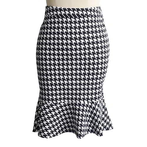 Plover Package Hip Slim Fishtail Skirt RBA7ED White Black 6pcs