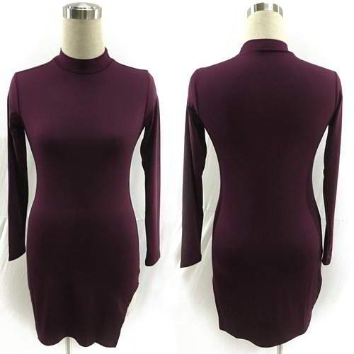 Split Sleeve O Neckline RBBECB Purple 6pcs