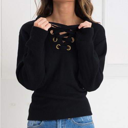 Bandage Sweater RBDAF5 Black