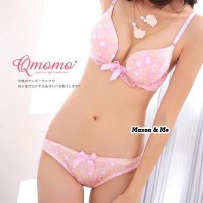 Bra And Panty Set General YF67E6 Pink 6pcs