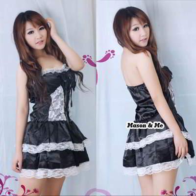 Babydoll Mini Lace Matching Dress Underwear 6pcs SADFE8