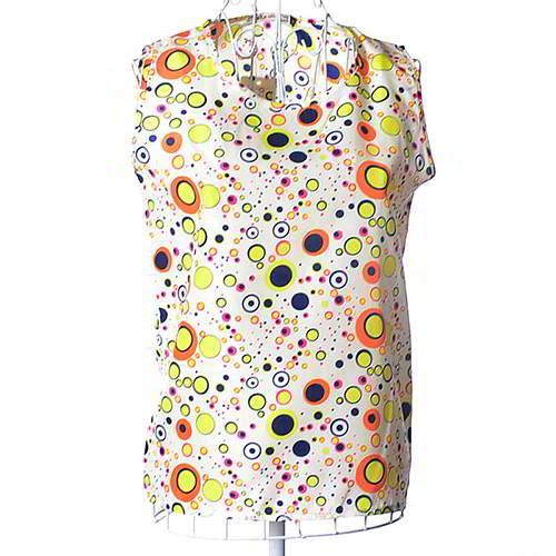 Round Pattern Sleeveless Garment RBEE7B Multi Color 6pcs