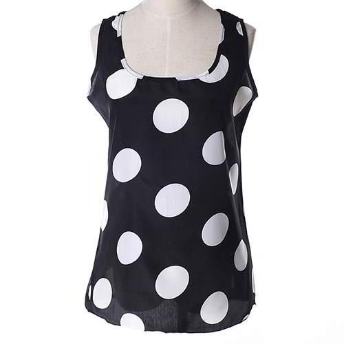 Round Pattern Sleeveless Garment RBEE7E Black White 6pcs