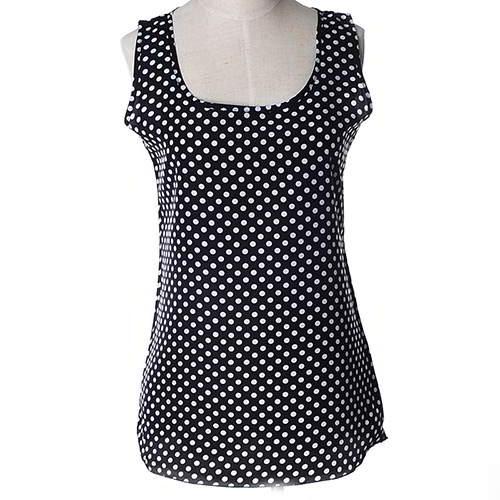 Wave Point Sleeveless Garment RBEE8D Black 6pcs