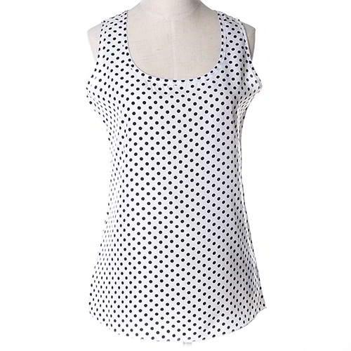 Wave Point Sleeveless Garment RBEE6F Black White 6pcs