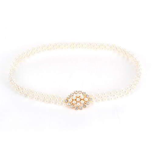 Pearl Diamond Belt RBECFA Gold