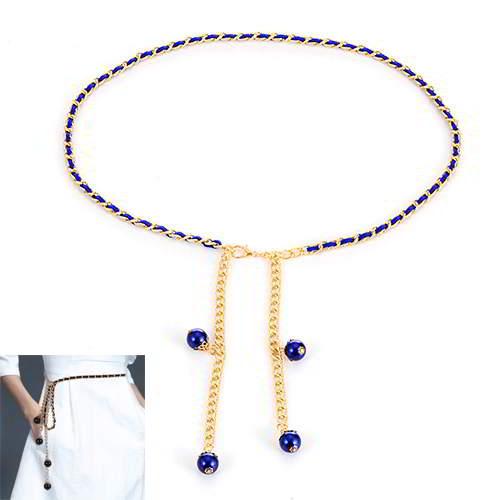 Pearl Waist Chain RBEBED Blue