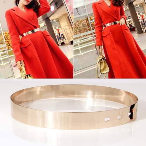 Pure Color Shiny Simple Design RAB8DA Gold