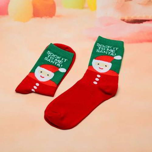 Father Christmas Letter Sock RC765D Red Green 6pcs