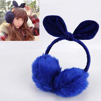 Rabbit Ears Shape Simple Design R85A8D Sapphire Blue 6pcs