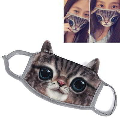 Cat Pattern Decorated Simple Design R8A7A8 Brown 6pcs
