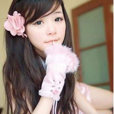 Gloves Fingerless Knitting Wool Fashion RFE8EE Pink 6pcs