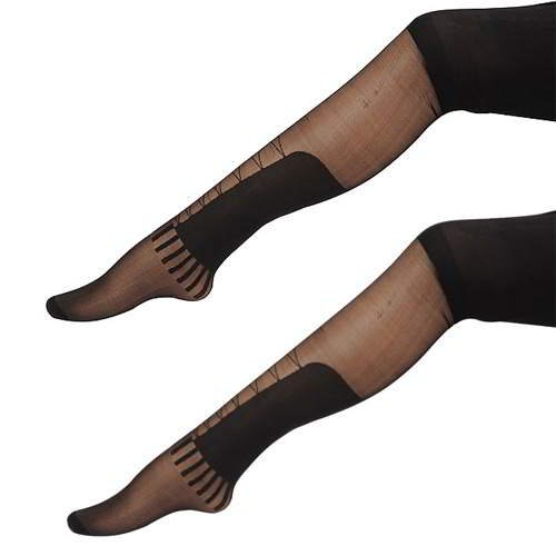Big Patch Pure Color Silk Stockings RBECCB Black 6pcs