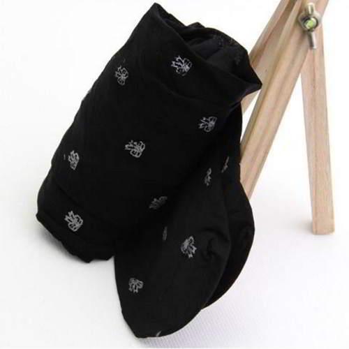 Bowknot Silk Stockings RBECD7 Black 6pcs