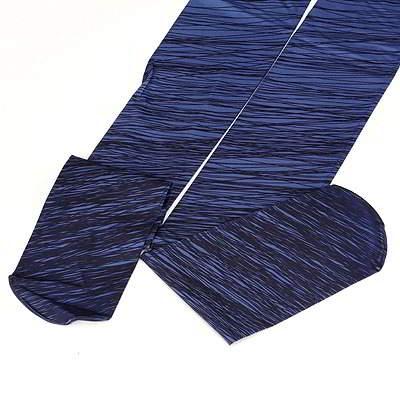 Gradient Disorderly Lines Design R8FBB6 Blue 6pcs