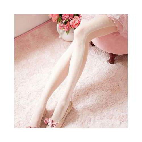 Lace Dot Silk Stockings RBECCC White 6pcs