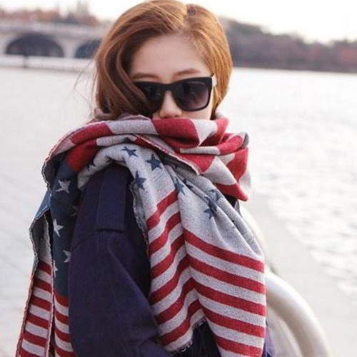 Star Pattern Color Matching Scarf RC7687 Multi Color 6pcs