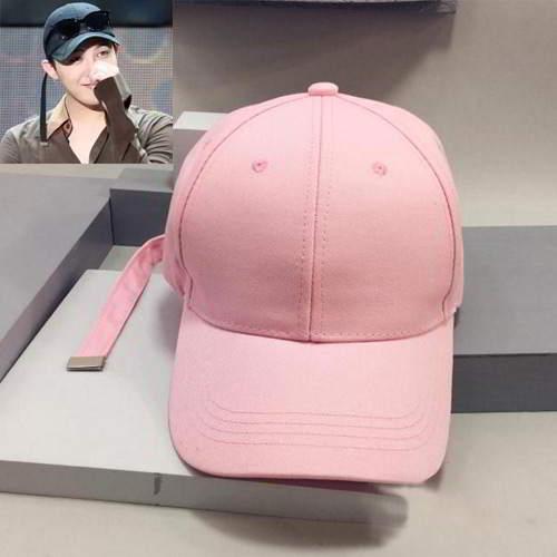 G Dragon Strap Simple Baseball Cap RC8EDE Pink 6pcs