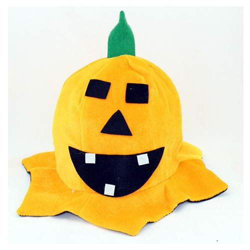 Halloween Smiling Face Leaf Pumpkin Hat RCFD7A Yellow 6pcs