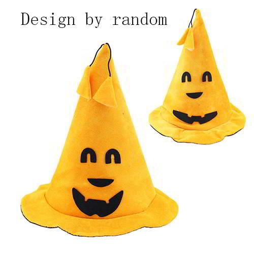 Halloween Smiling Face Tassel Pendant PumpkinHat RCFD77 6pcs