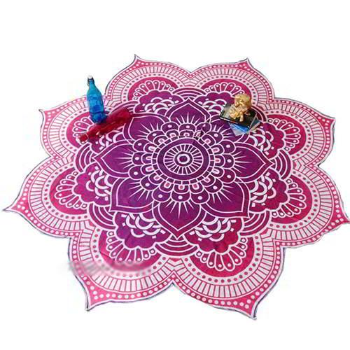 Flower Regular Yoga Mat Shawl RC8A7E Purple 6pcs